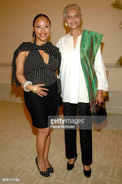 Lynn Whitfield and Grace Hope Hill attend Susan FalesHill's ONE FLIGHT UP Book Launch Party at 15 Central Park West on July 21st 2010 in New York City