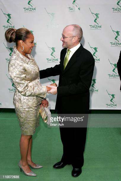 Lynn Whitfield and Phil Collins during Opening Night of the Broadway Musical 'Tarzan' Red Carpet at Richard Rogers Theatre in New York New York...