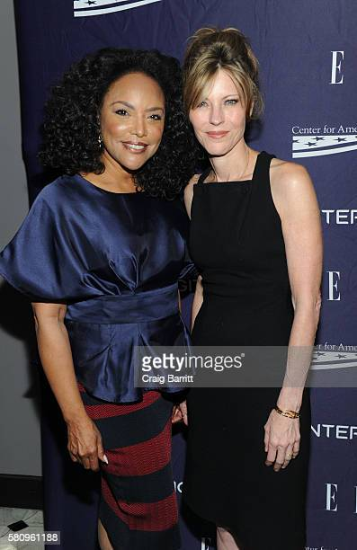 Lynn Whitfield and Robbie Myers attend a reception hosted by ELLE EditorinChief Robbie Myers and Center for American Progress President Neera Tanden...