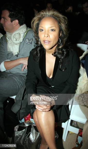 Lynn Whitfield during Olympus Fashion Week Fall 2006 Tracy Reese Front Row at The Promenade Bryant Park in New York City New York United States