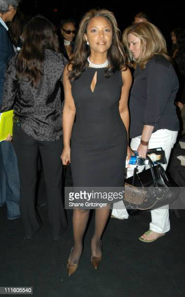 Lynn Whitfield during Olympus Fashion Week Spring 2006 Zang Toi Front Row and Backstage at Bryant Park The Tent in New York City New York United...