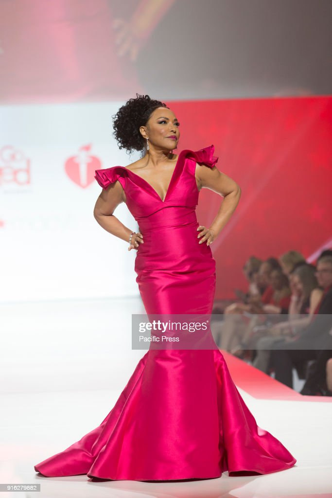 reputable site f1705 47ce3 Lynn Whitfield wearing gown by Terani Couture walks runway ...