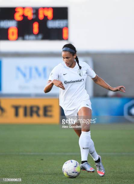 Lynn Williams of North Carolina Courage in action during a game against the Sky Blue FC on day 8 of the NWSL Challenge Cup at Zions Bank Stadium on...