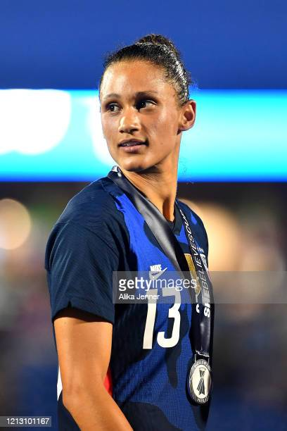 Lynn Williams of the United States looks on after the SheBelieves Cup match against Japan at Toyota Stadium on March 11 2020 in Frisco Texas The...