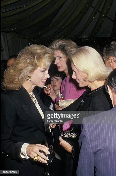 Lynn Wyatt and CZ Guest during 'Fete De Famille III' Benefit For AIDS Care Center at Mortimer's Restaurant in New York City New York United States