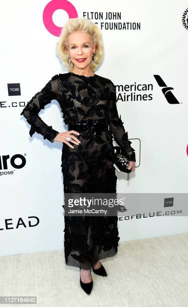 Lynn Wyatt attends the 27th annual Elton John AIDS Foundation Academy Awards Viewing Party sponsored by IMDb and Neuro Drinks celebrating EJAF and...