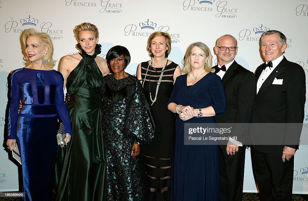 Lynn Wyatt, HSH Princess Charlene of Monaco, Cicely Tyson, Sandra van Essche, Serena Lese, Michael Wilson and John Lehman attend the 2013 Princess Grace Awards Gala at Cipriani 42nd Street on October 30, 2013 in New York City.