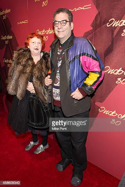 Lynn Yaeger and Michael Musto attend Indochine's 30th Anniversary Party at Indochine on November 7, 2014 in New York City.