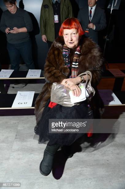 Lynn Yaeger attends Creatures Of The Wind fashion show during MercedesBenz Fashion Week Fall 2014 at The Pavilion at Lincoln Center on February 6...