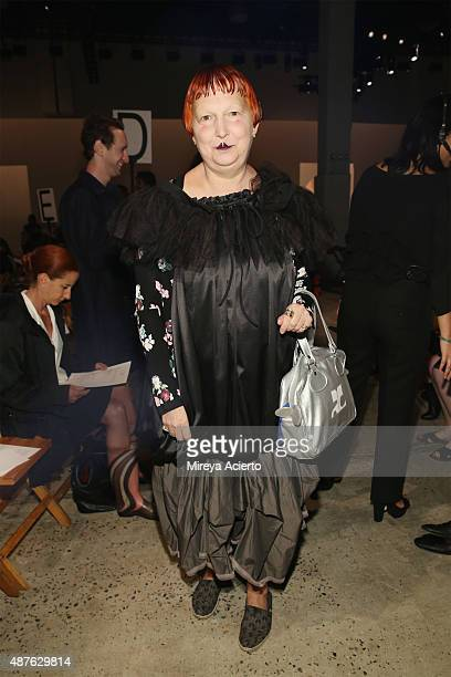 Lynn Yaeger attends the Creatures Of The Wind fashion show during Spring 2016 New York Fashion Week at SIR Stage37 on September 10 2015 in New York...