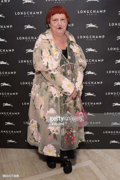 Lynn Yaeger attends the opening of Longchamp Fifth Avenue Flagship at Longchamp on May 3 2018 in New York City