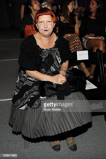 Lynn Yaeger attends the Ruffian Spring 2011 fashion show during Mercedes-Benz Fashion Week at The Studio at Lincoln Center on September 9, 2010 in...