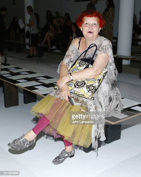 Lynn Yaeger ttends the Suno show during Spring 2013 Mercedes-Benz Fashion Week at Milk Studios on September 7, 2012 in New York City.