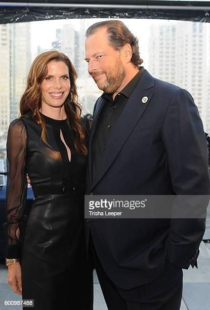 Lynne Benioff and Marc Benioff attend GLAAD Gala San Francisco 2016 on September 8 2016 in San Francisco California