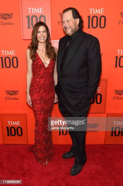 Lynne Benioff and Marc Benioff attend the 2019 Time 100 Gala at Frederick P Rose Hall Jazz at Lincoln Center on April 23 2019 in New York City