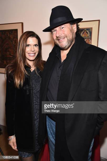 Lynne Benioff and Marc Benioff attend the The Art Of Freedom Award at Tibet House US on December 10 2018 in New York United States