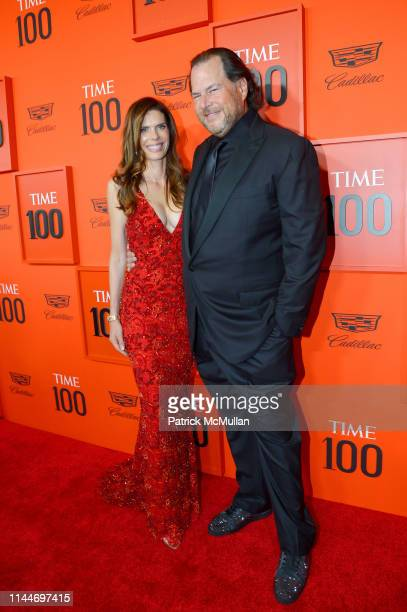 Lynne Benioff and Marc Benioff attend the Time 100 Gala 2019 at Jazz at Lincoln Center on April 23 2019 in New York City