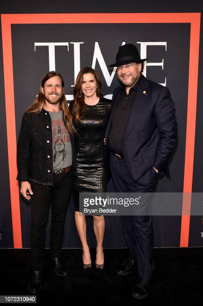 Lynne Benioff Lukas Nelson and Marc Benioff attend the TIME Person Of The Year Celebration at Capitale on December 12 2018 in New York City