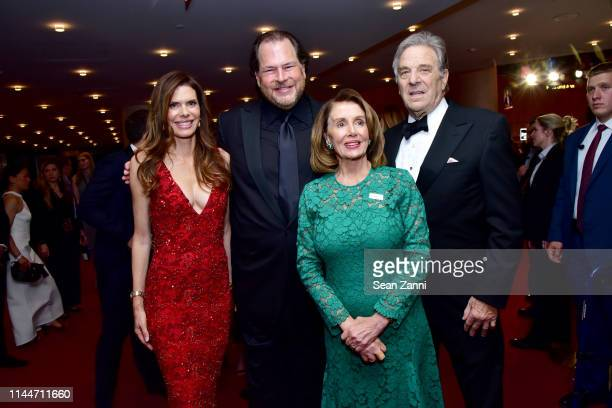 Lynne Benioff Marc Benioff Nancy Pelosi and Paul Pelosi attend the Time 100 Gala 2019 at Jazz at Lincoln Center on April 23 2019 in New York City