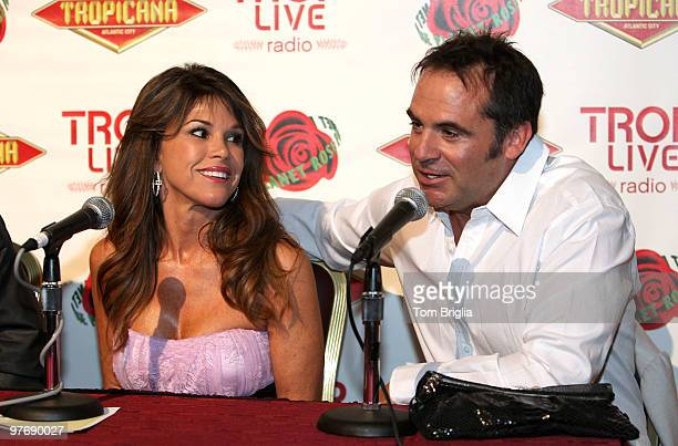 Lynne Curtin and Frank Curtin of the Real Housewives of Orange County stop for an interview at Tropicana Casino and Resort on Saturday March 13 2010...