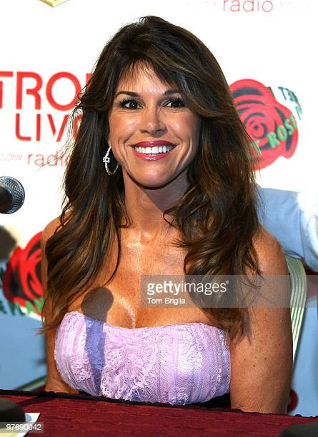 Lynne Curtin of the Real Housewives of the Real Housewives of Orange County stops for an interview at Tropicana Casino and Resort on Saturday March...