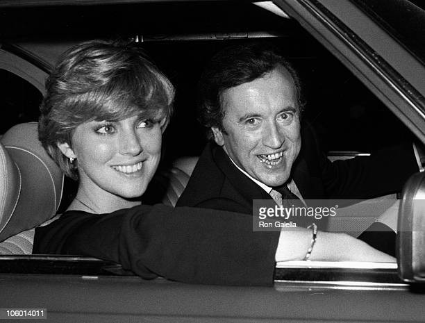 Lynne Frederick and David Frost during David Frost Sighted at Chasen's Restaurant at Chasen's Restaurant in Beverly Hills California United States