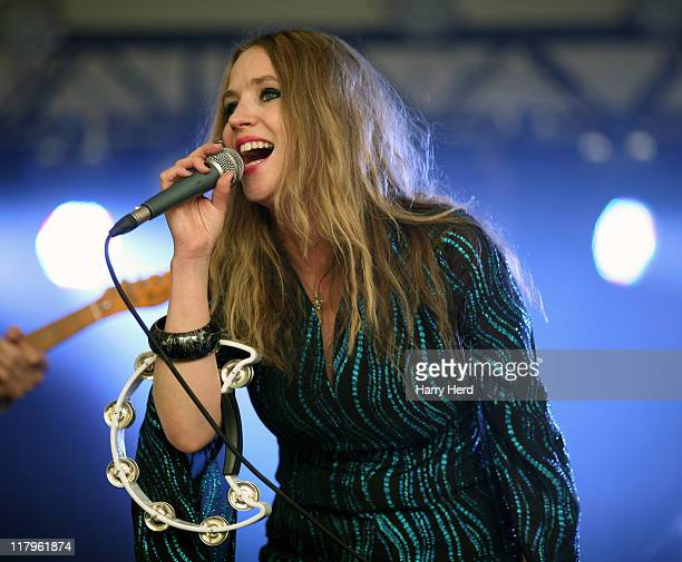 Lynne Jackaman of Saint Jude performs on day two of the Cornbury Music Festival on July 2 2011 in Chipping Norton England