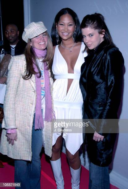 Lynne Koplitz Kimora Lee Simmons and Jules Asner during Olympus Fashion Week Fall 2004 Baby Phat Front Row and Backstage at Gotham Hall in New York...