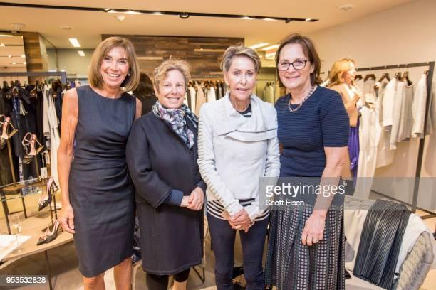 Lynne Kortenhaus from left Jill Medvedow Vivien Hassenfeld and Fotene Demoulas at Max Mara's Newbury St location as it celebrates Boston ICA's...