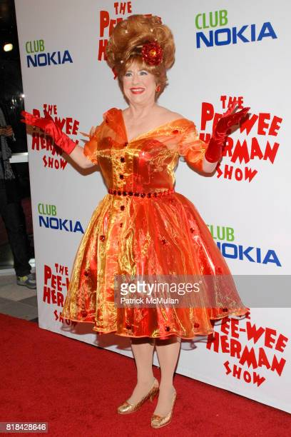 Lynne Marie Stewart attends The Pee Wee Herman Show Opening Night at Club Nokia on January 20 2010 in Los Angeles California