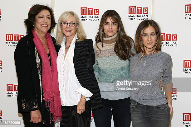 Lynne Meadow Blythe Danner Amanda Peet and Sarah Jessica Parker attend The Commons Of Pensacola Off Broadway cast photo call at Manhattan Theatre...