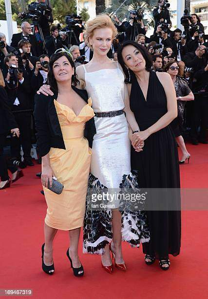 """Lynne Ramsay, Nicole Kidman and Naomi Kawase arrive at """"Venus In Fur"""" Premiere during the 66th Annual Cannes Film Festival at Grand Theatre Lumiere..."""