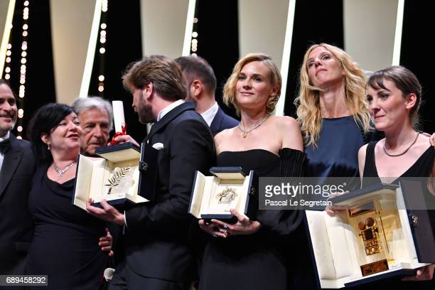 Lynne Ramsey winner of the award for Best Screenplay for the movie 'You Were Never Really Here' Robin Campillo winner of the Grand Prix for the movie...