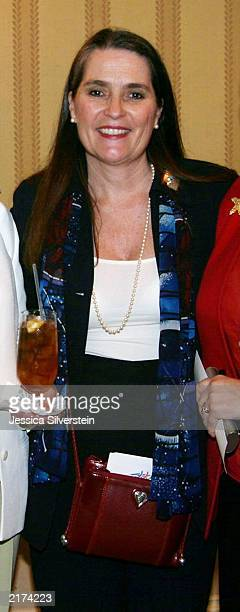 Lynne Weaver attends the Women of Los Angeles Hope Is A Woman luncheon at The Four Seasons Hotel on May 21 2003 in Beverly Hills California Weaver...