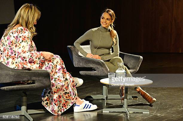 Lynnette Peck and Maria Hatzistefanis speak during an 'In Conversation' at The VA on May 3 2016 in London England