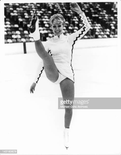 LynnHolly Johnson on the ice rink in a scene from the film 'Ice Castles' 1978