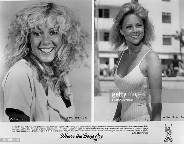 LynnHolly Johnson poses for the movie Lisa Hartman smiles on the beach in a scene for the TriStar movie Where the Boys Are '84 circa 1983