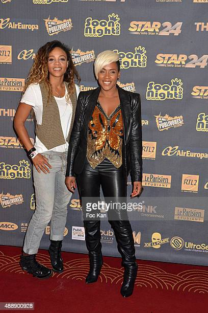 Lynnsha and Louisy Joseph attends the '35th Nuit des Publivores' at Grand Rex September 17 2015 in Paris France