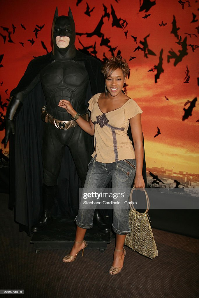 Lynnsha attends the premiere of 'Batman Begins' in Paris.