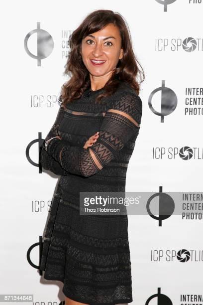 Lynsey Addario attends The 2017 ICP spotlights luncheon honoring Pulitzer PrizeWinning photojournalist Lynsey Addario on November 7 2017 in New York...