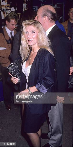Lynsey De Paul and Guest during Lynsey De Paul at the First Night of Musical Buddy in 1989 in London Great Britain