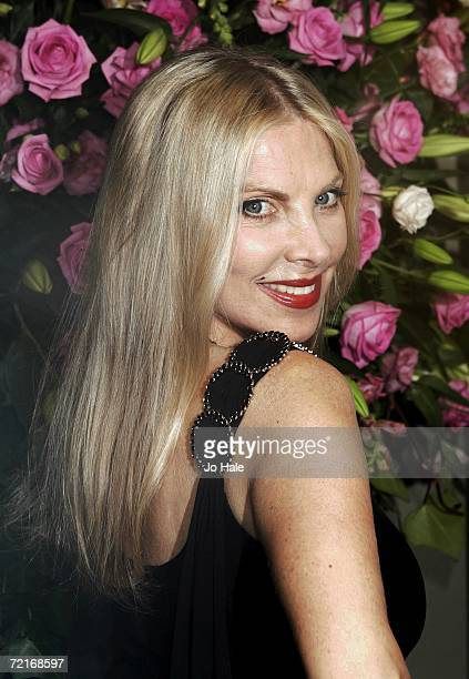 Lynsey de Paul arrives at the Pink Ribbon Ball at the Dorchester Hotel on October 14 2006 in London England