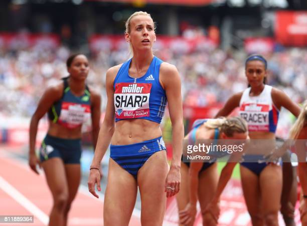 Lynsey Sharp after the Women's 800m during Muller Anniversary Games at London Stadium in London on July 09 2017