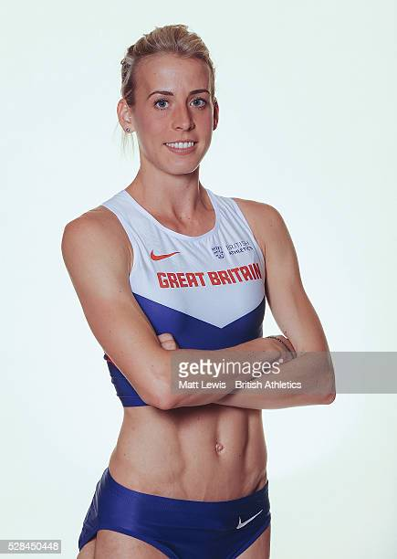 Lynsey Sharp of British Athletics poses for a portrait during a Training Session on August 17 2015 in Fukuoka Japan
