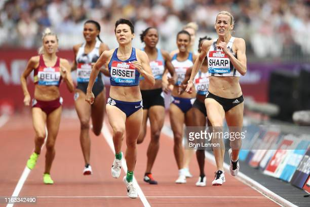 Lynsey Sharp of Great Britain competes in the Women's 800m during Day Two of the Muller Anniversary Games IAAF Diamond League event at the London...