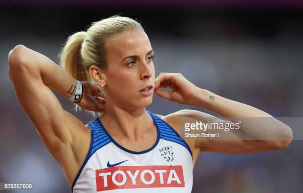 Lynsey Sharp of Great Britain competes in the womens 800m heats during day seven of the 16th IAAF World Athletics Championships London 2017 at The...