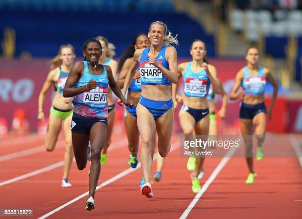 Lynsey Sharp of Great Britain in action during the 800m Womens Heats during the Muller Grand Prix Birmingham meeting at Alexander Stadium on August...