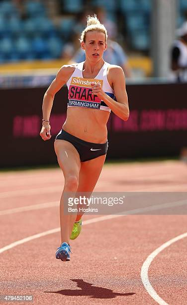 Lynsey Sharp of Great Britain in action during the women's 800m heats on day two of the Sainsbury's British Championships at Birmingham Alexander...