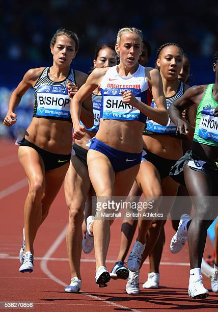 Lynsey Sharp of Great Britain runs in the Women's 800m during the Birmingham Diamond League at Alexander Stadium on June 5 2016 in Birmingham England