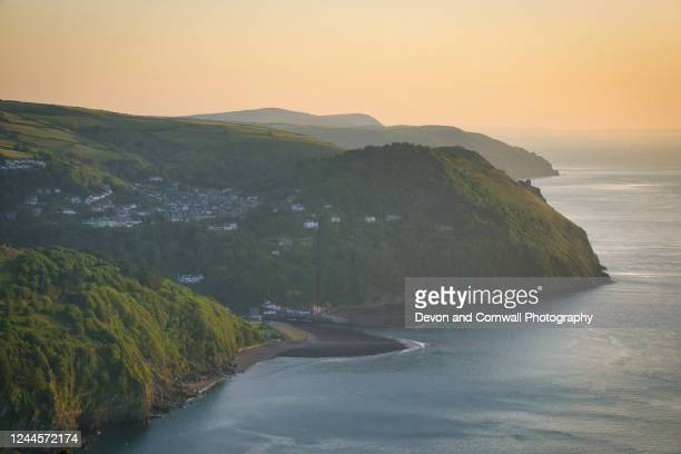lynton and lynmouth, exmoor - lynton stock pictures, royalty-free photos & images